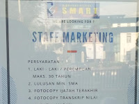 Lowongan Pekerjaan Padang : Staff Marketing