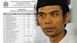 Kemenag Rilis 200 Nama Mubaligh yang Memenuhi Kriteria, Kok Tak Ada Ustaz Abdul Somad?