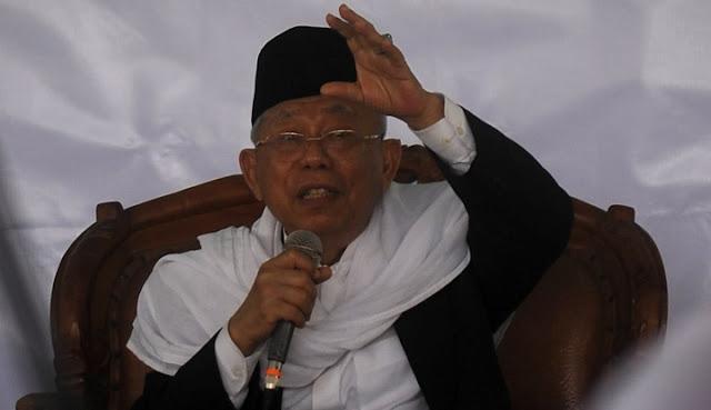 Elektabilitas Jokowi Nyungsep 7 Persen, Ma'ruf Amin: Nanti Naik 1.000 Persen