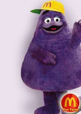Grimace from McDonalds, as seen on Twitter