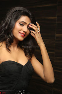 Shalu Chourasiya in spicy Sleeveless Strapless Black Top at O Pilla Nee Valla Movie Audio Launch Feb 2017 090.JPG