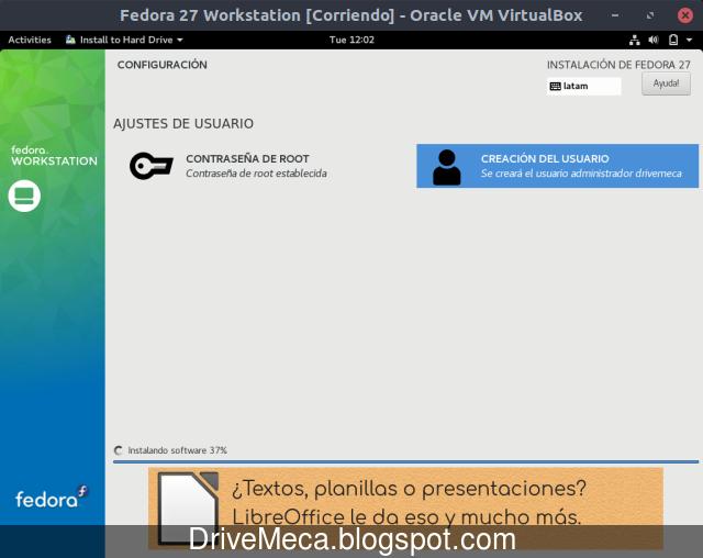 Momento para relajarnos mientras se instala Linux Fedora