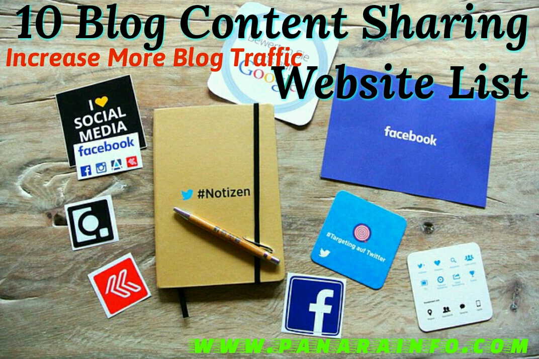Content sharing websites blog promotion