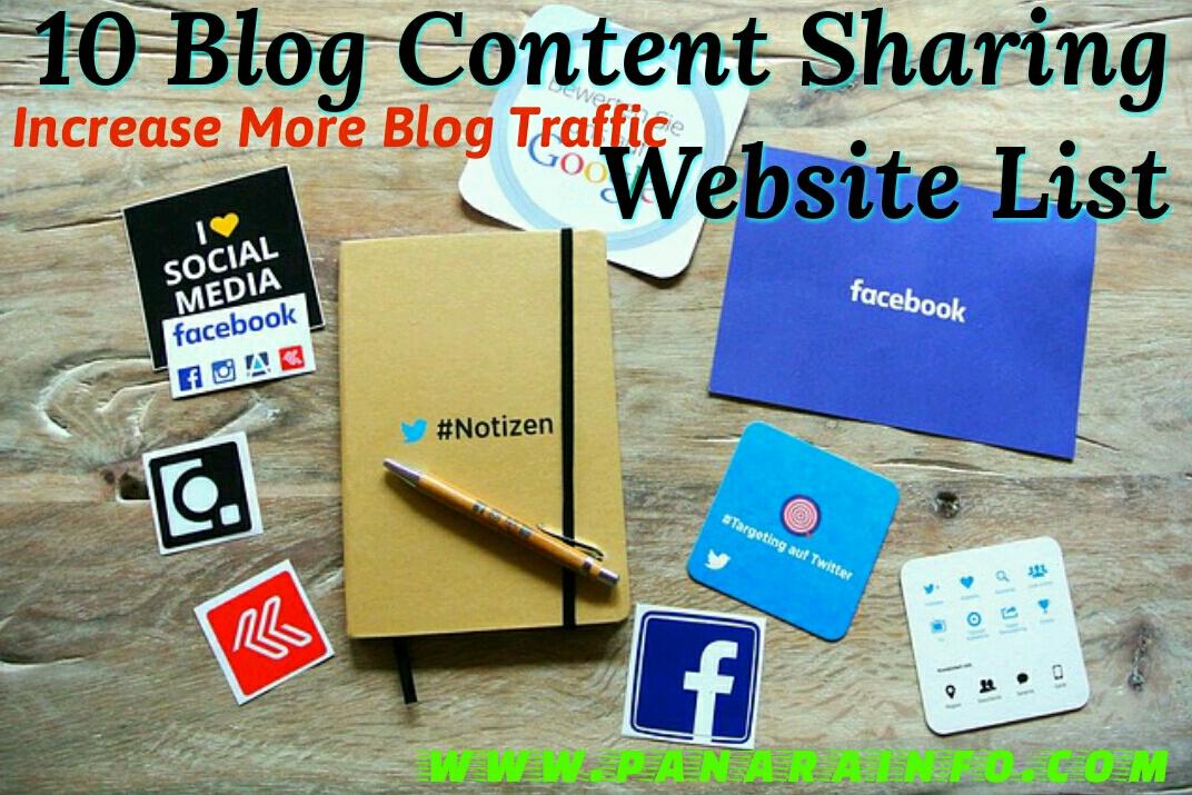 Content sharing websites blog promotion