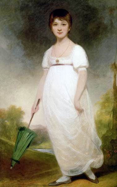 The Rice Portrait, believed to be a painting of Jane Austen as a child, painted by Ozias Humphrey , 1788-90. Attribution of the painting is a matter of ongoing debate and is well-documented!