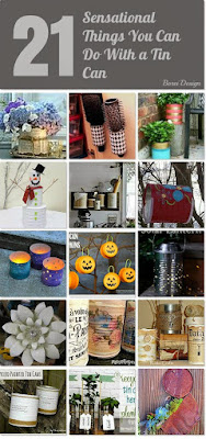 One year of crafts: how to upcycle recycle cans craft projects diy