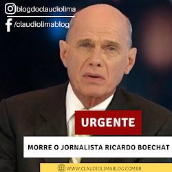 Morre aos 66 anos o maior Jornalista do Brasil Ricardo Boechat
