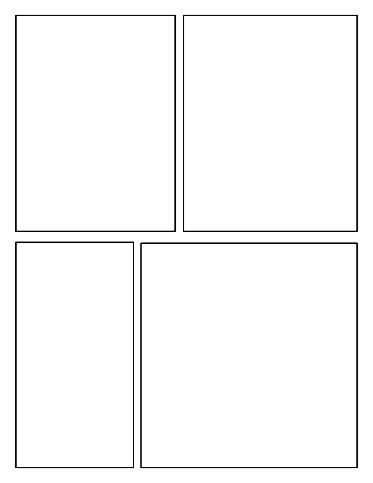 Mrs orman 39 s classroom offering choices for your readers for Four panel comic strip template