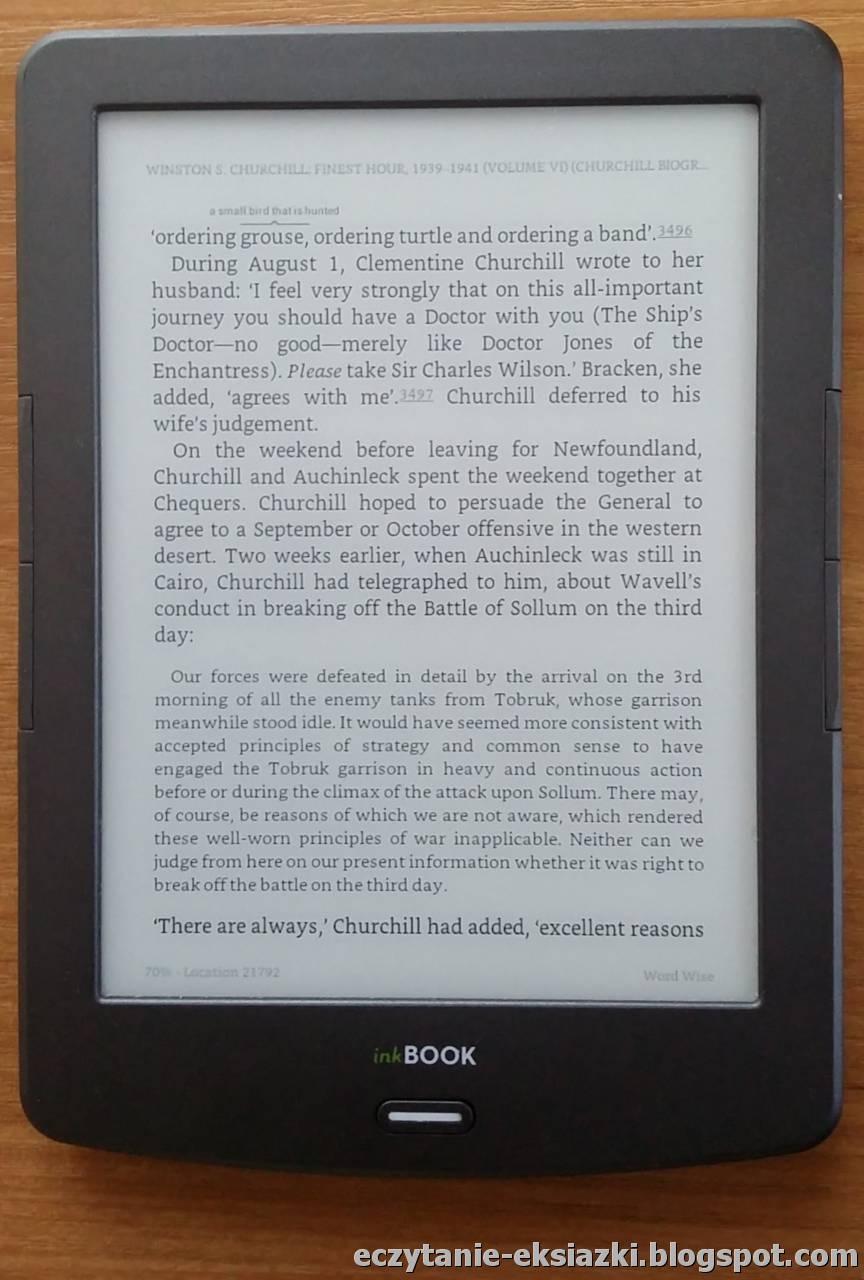 Układ tekstu w aplikacji Kindle w e-bookach z Amazonu wygląda nieco lepiej