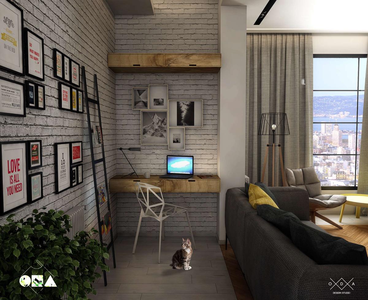 20 desain ruang kerja minimalis