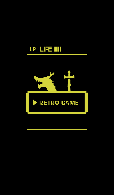 Retro Game 2 / Black & Yellow