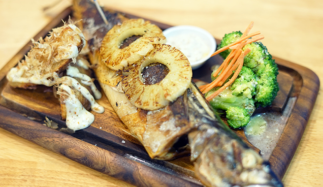 Grilled Whole Norwegian Mackerel