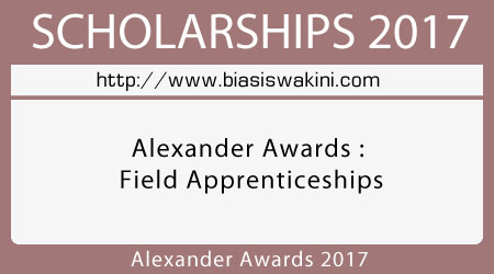 Alexander Awards : Field Apprenticeships 2017