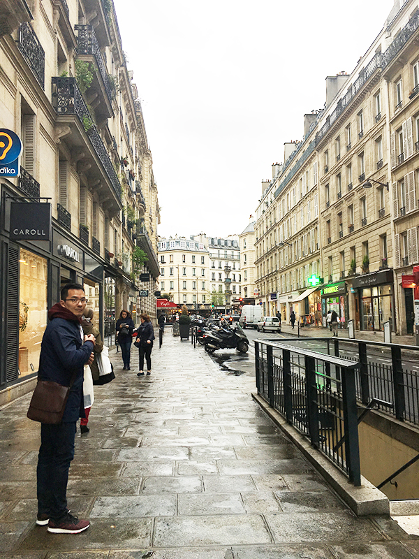 strolling the streets of Paris
