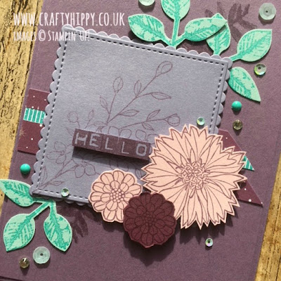 Create this gorgeous Perfect Plum card using the Touches of Texture stamp set by Stampin' Up!
