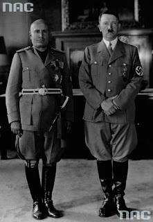 Photo of Mussolini and Hitler