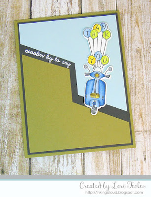 Scootin' By card-designed by Lori Tecler/Inking Aloud-stamps from Lil' Inker Designs