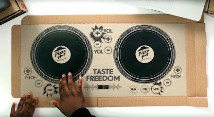 Ein Pizzakarton wird zum DJ Deck | Taste Freedom DJ Cardboard Pizza Box