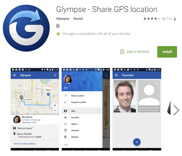 glympse android app