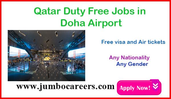 Doha airport jobs with salary and benefits, current job vacancies Qatar,