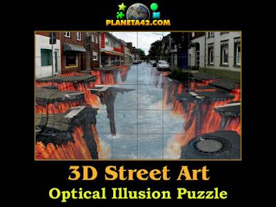 3Д улица оптическа илюзия