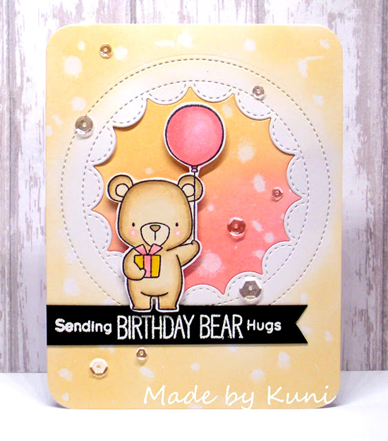 Birdie Brown Beary Special Birthday stamp set and Die-namics  - Annett Näther #mftstamps