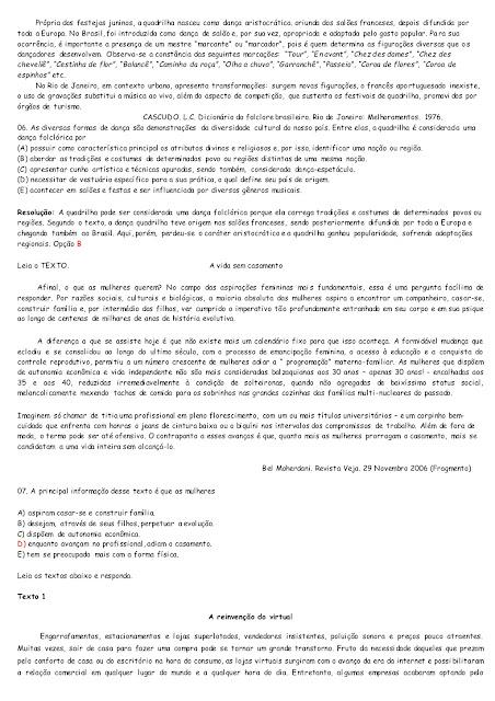 simulado de portugues ensino medio