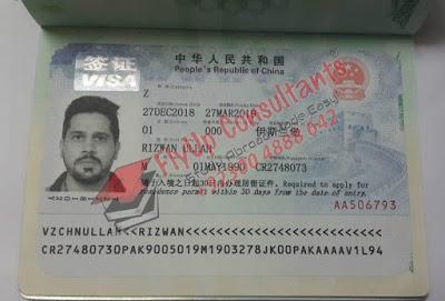 China Work Permit Visa
