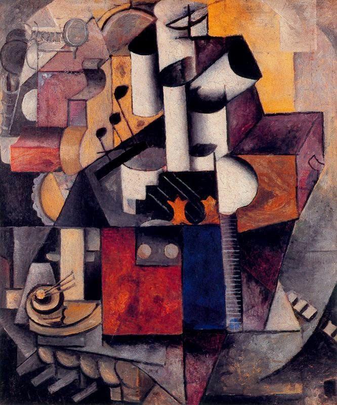 Instrumento Musical - Kasimir Malevich e suas pinturas com elementos geométricos abstratos