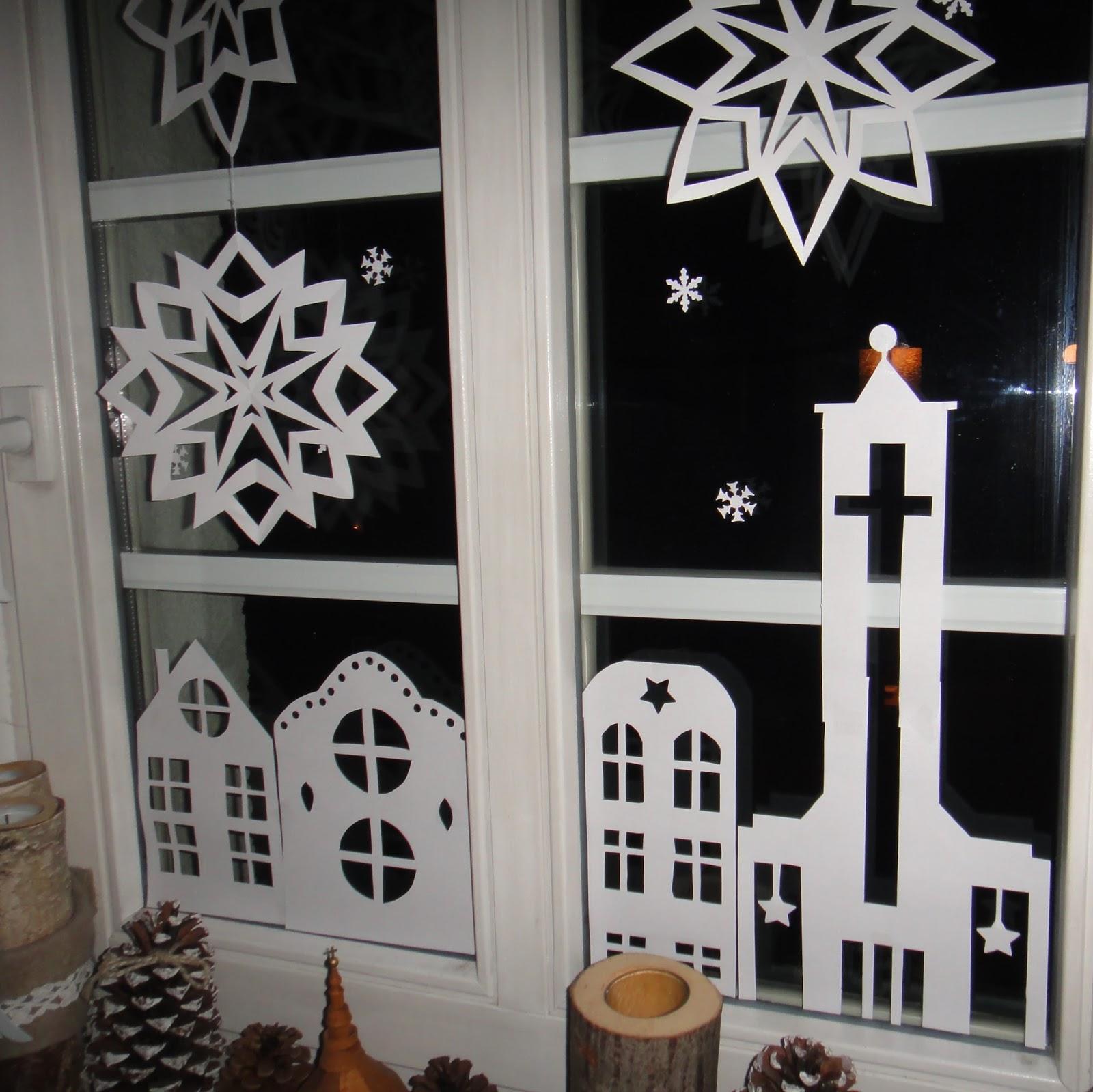 Ines felix kreatives zum nachmachen weihnachts for Fensterdeko weihnachten basteln papier