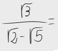 43.Racionalizar una fracción