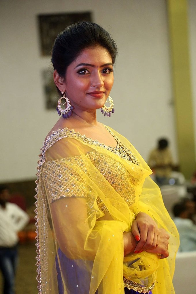 Eesha Still In Yellow Dress At Tamil Movie Audio Release Function