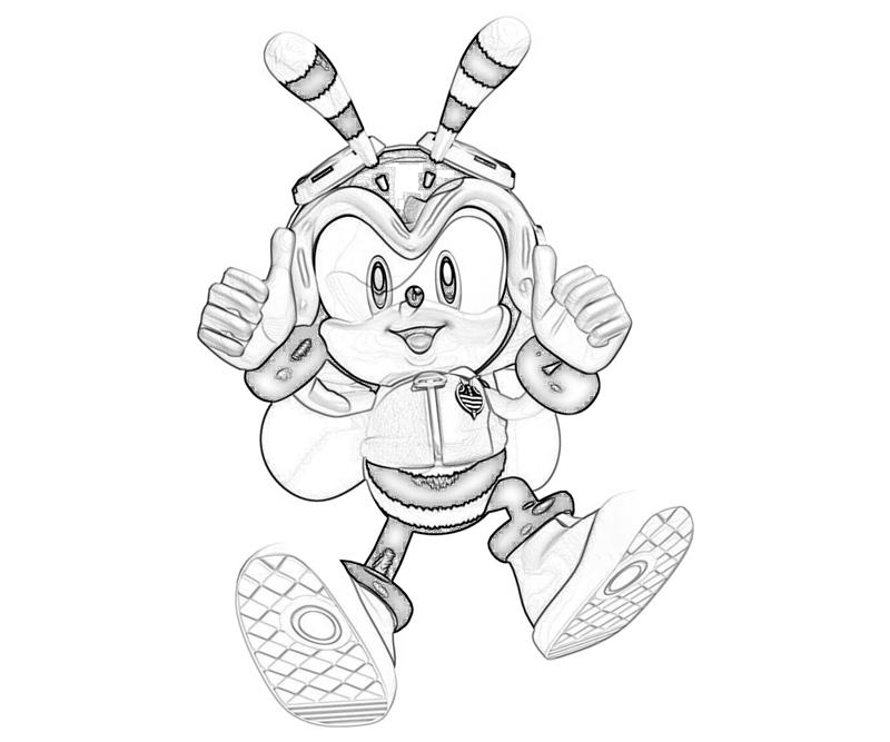 charmy bee coloring pages | Sonic Generations Charmy Bee Action | Surfing