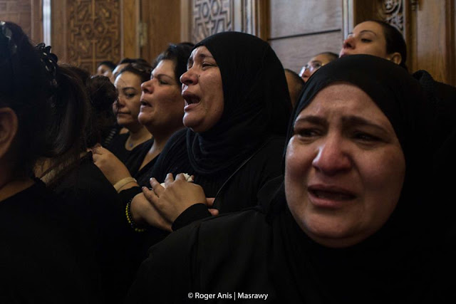 Mourners at the Church on Saturday included Muslim women too in Minya