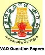 TNPSC VAO Solved Question Paper 2016