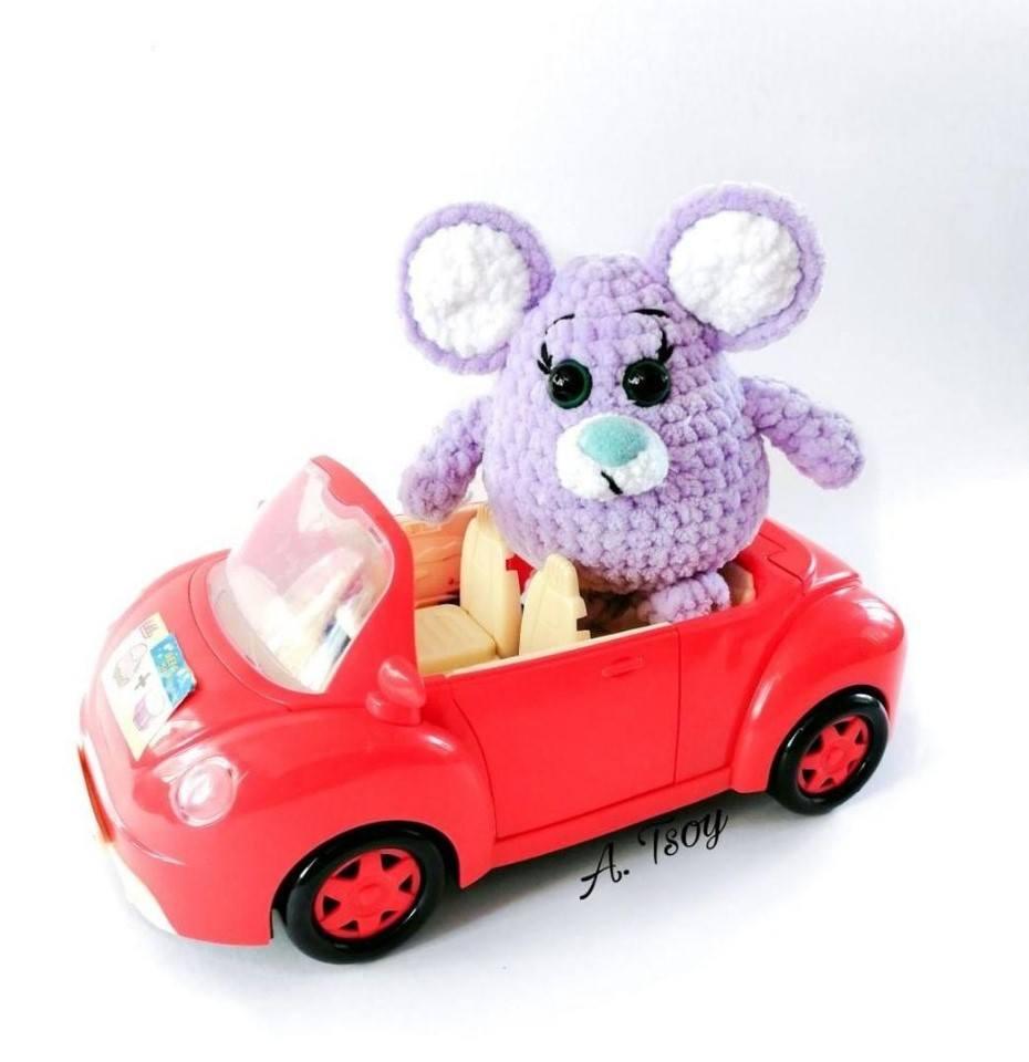 вязаная мышка малышка амигуруми Hi Amigurumi