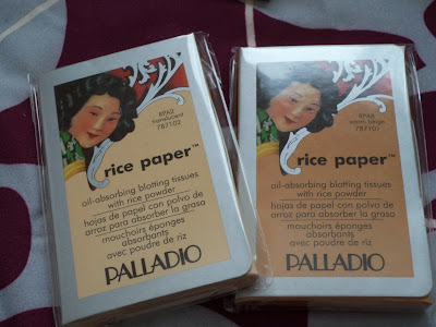 [Review] Palladio's Rice Paper Blotting Sheets and Oil Absorbing Rice Powder ♥