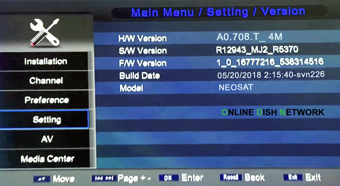 Neosat 550D HD Receiver Powervu Key New Software - Online