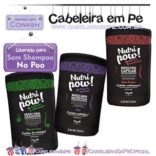 Máscaras Condicionantes Kanechom Nutri Pow (Açaí, óleo de coco e Proteínas - Liberadas para No Poo e Cowash)