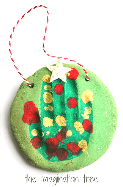 Salt dough ornament for kids to make for Christmas