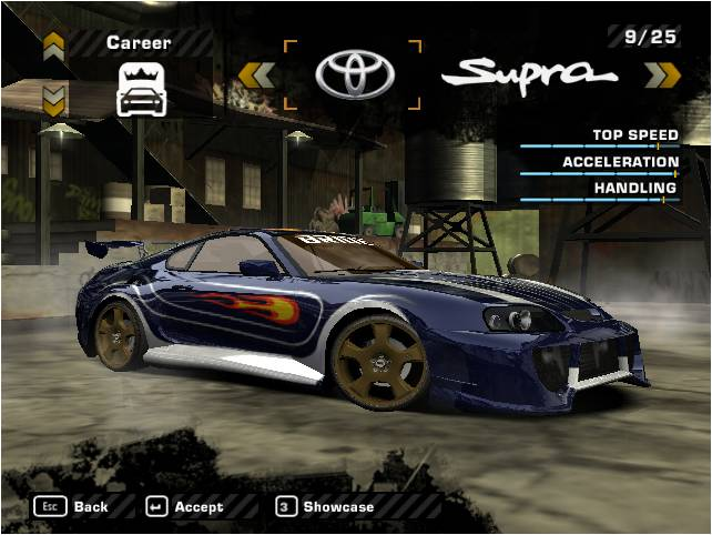 need for speed most wanted cars 2005