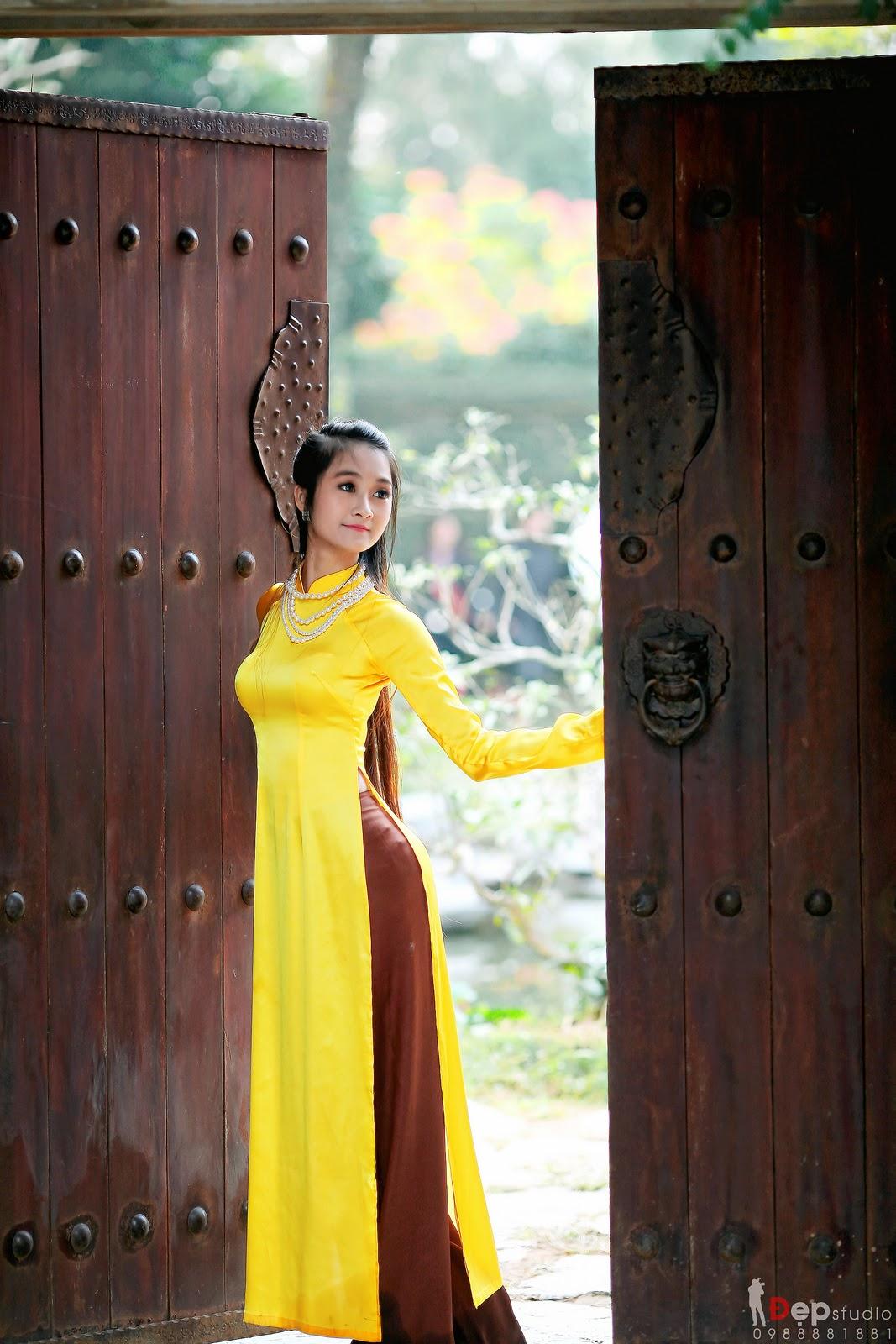 Ảnh đẹp girl xinh Áo dài truyền thống Việt Nam - Ảnh 23