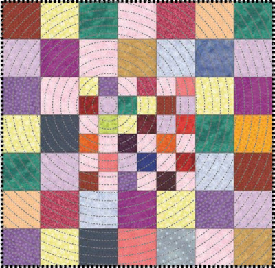 FREE PDF Pattern | Checkerboard Scrappy Mini Quilt Pattern