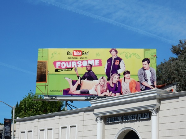 Foursome YouTube Red series premiere billboard