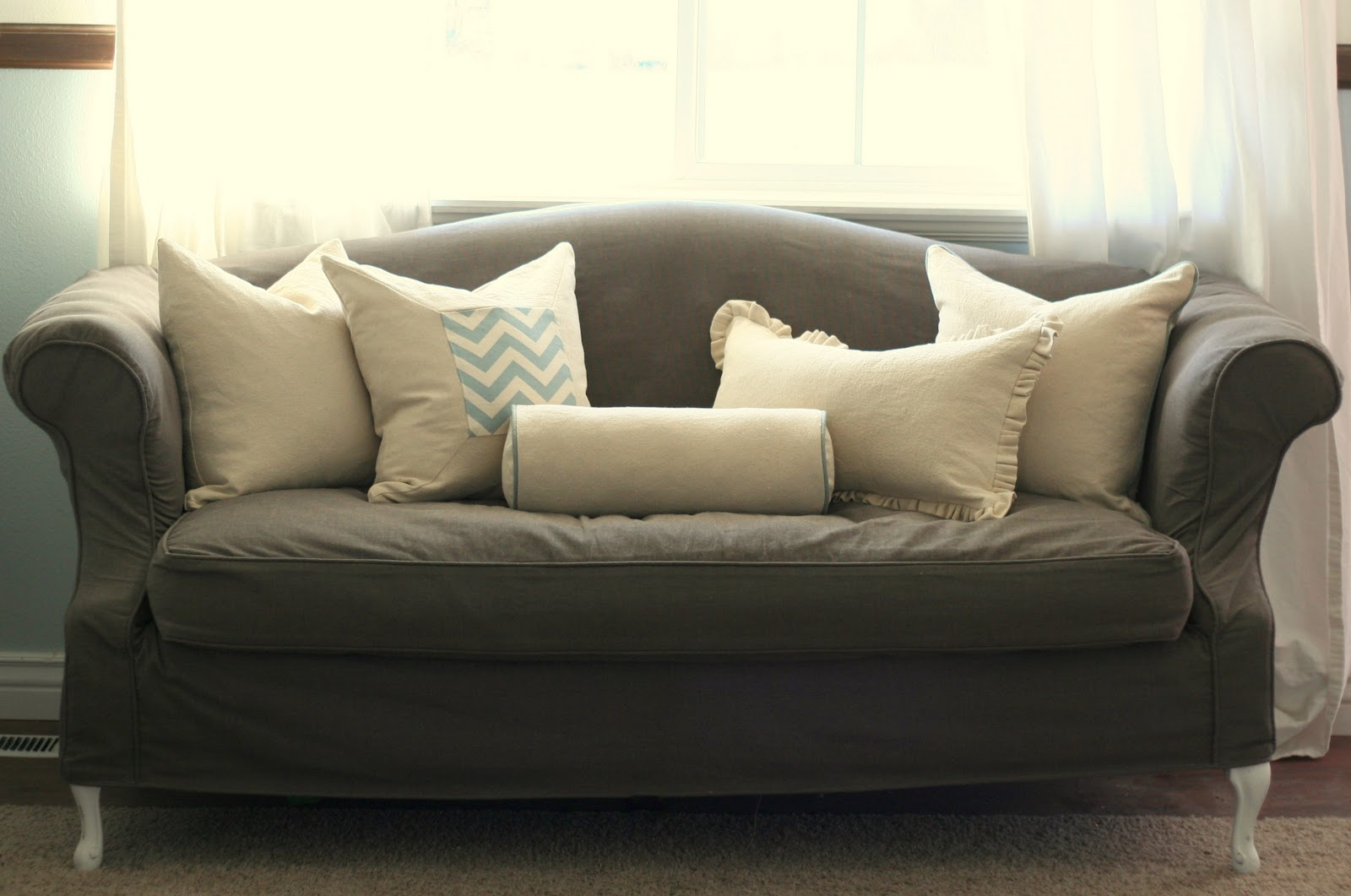 sofa redo modern sectionals los angeles custom slipcovers by shelley french country family room