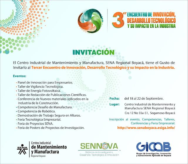 3ER. Encuentro de Innovación, desarrollo Tecnologico