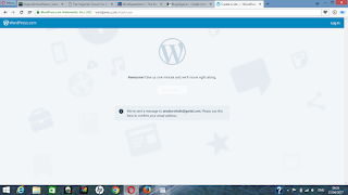 verify your wordpress email