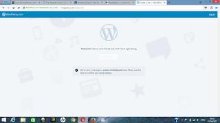 verify your wordpress email