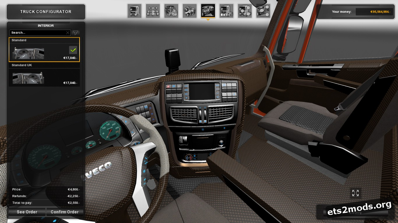Brown Interior for Iveco Hi-Way