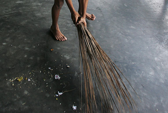 dharamvigyaan why is it inauspicious to sweep the floor at night sweep the floor at night